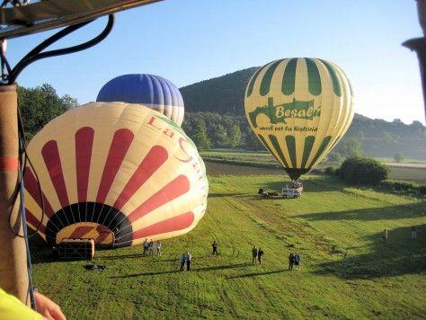 aterrizaje de globos en catalunya