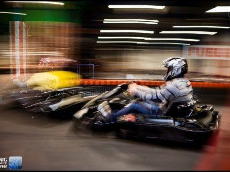 Carrera karting indoor gran prix con cena incluida