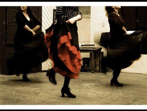 Clase de baile de flamenco