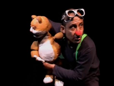 Kiplin clown: show de marionetas en Barcelona y el Gato buscando
