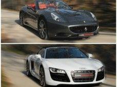 Ferrari California y Audi R8