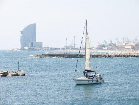Fin de semana en velero en Barcelona