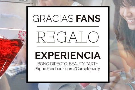 Regalo para fans de cumpleparty en Facebook
