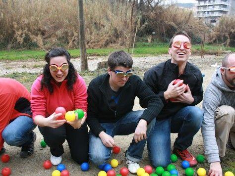 Gymkhanas para reír al aire libre em Barcelona