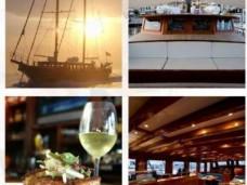 Cena exclusiva en barco de lujo en Barcelona Goleta