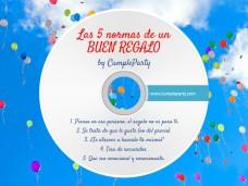 5 normas de un buen regalo según CumpleParty