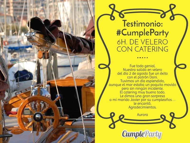 Testimonio - Aurora - 6h velero y catering