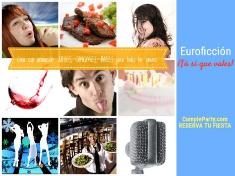 cena con animación de humor Euroficción