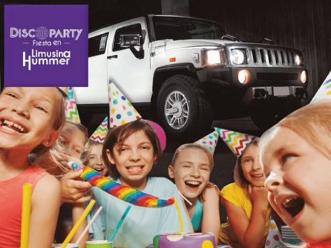 Discoparty para niños y adolescentes: limusina y diversión de lujo