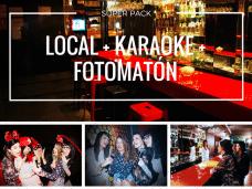 super pack local con karaoke y fotomaton
