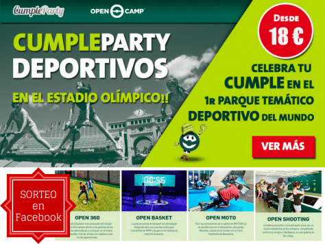 CumpleParty organiza fiestas de cumpleaños en Open Camp