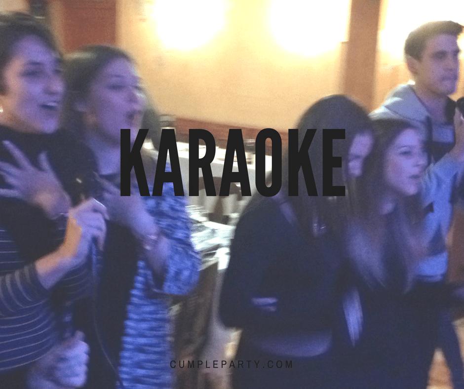 El momento karaoke alegra cualquier fiesta