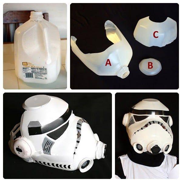 Disfraz Casco de soldado imperial de Star Wars casero y barato
