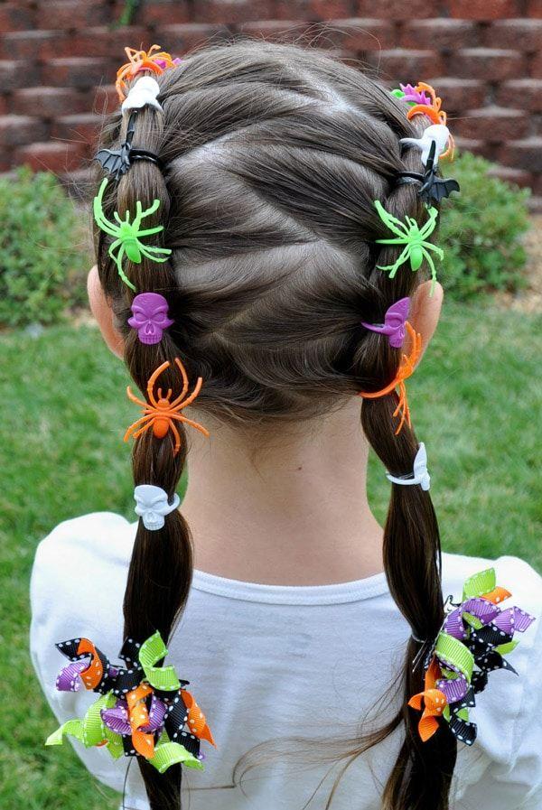 Disfraces caseros Halloween: Tenebroso peinado de Halloween para niñas