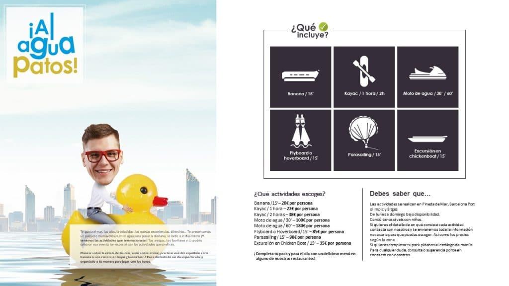 Catálogo de actividades acuáticas para fiestas refrescantes