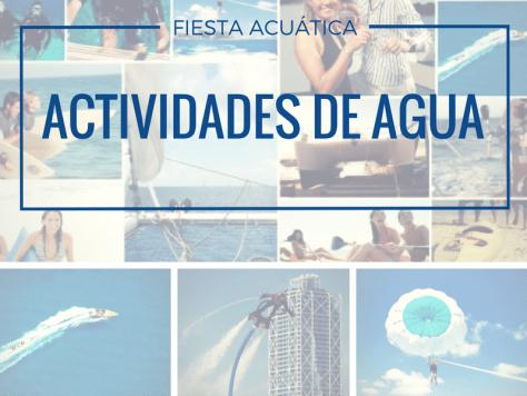 actividades de agua, cumpleaños en verano