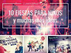 10 fiestas infantiles y muchas más ideas originales en el catálogo Cumpleparty